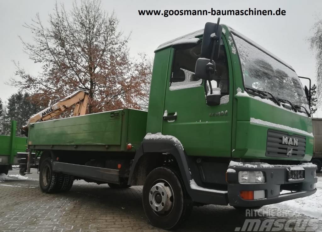 MAN LE180C mit Humbaur HT506124 und Ladekran MKG HLK45