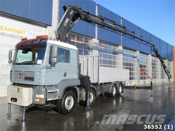 MAN TGA 41.430 BB 8x4 Hiab 80 ton/meter Kran + Fly-Jib