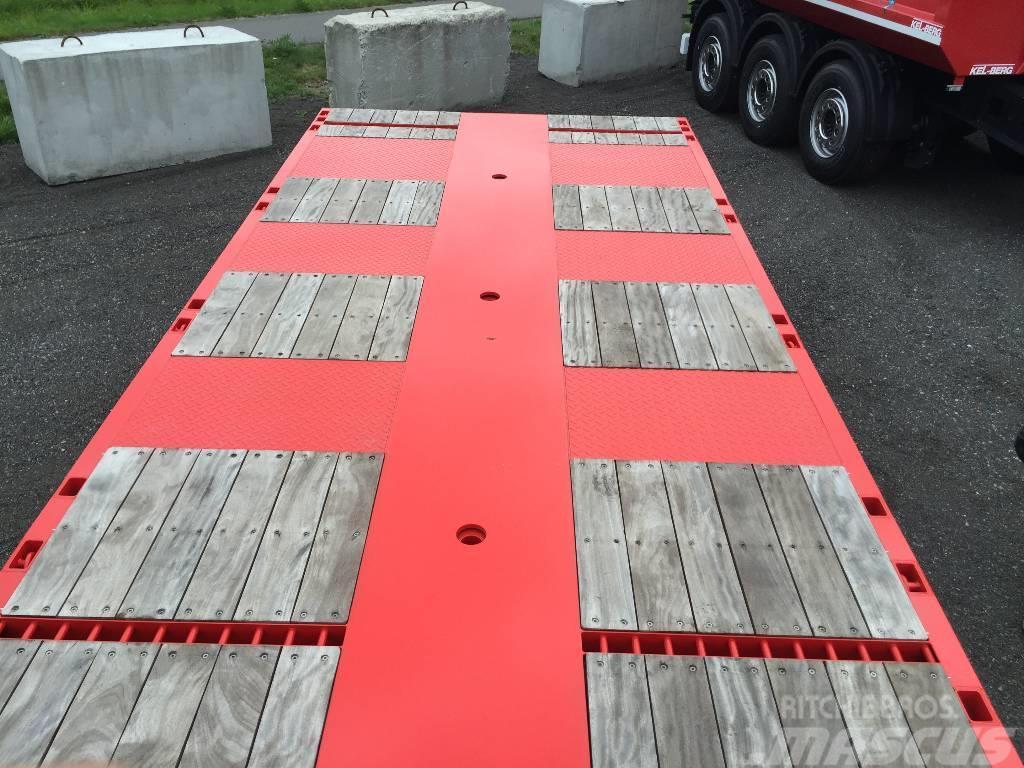 Kel-Berg KRANBIL-SEMI S600 H UTTREKK 10,30M Lang hydr.styri, 2017, Övriga släp