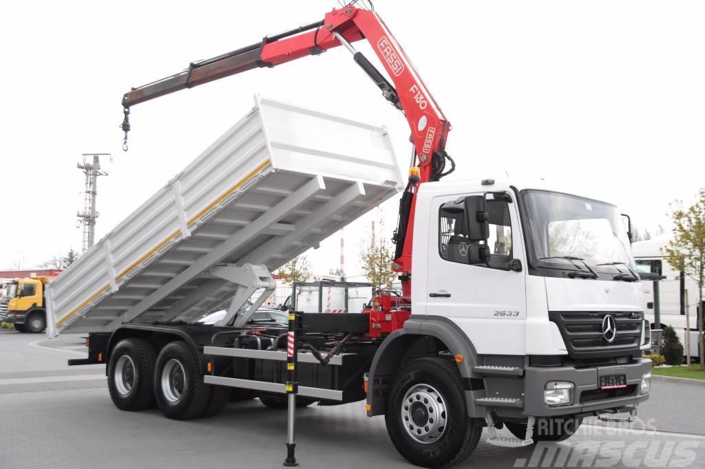 used mercedes benz axor 2633 fassi crane 8m rotator tipper dump trucks year 2007 price. Black Bedroom Furniture Sets. Home Design Ideas