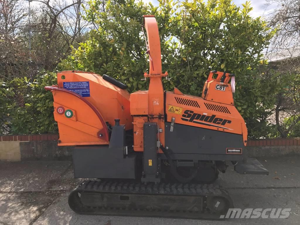 Used Jensen A540t Spider Wood Chippers Year 2012 Price