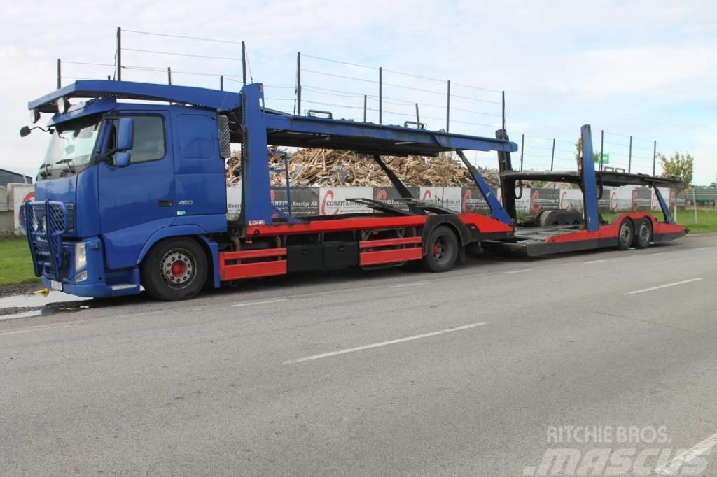 Volvo FH 460 Biltransport + släp