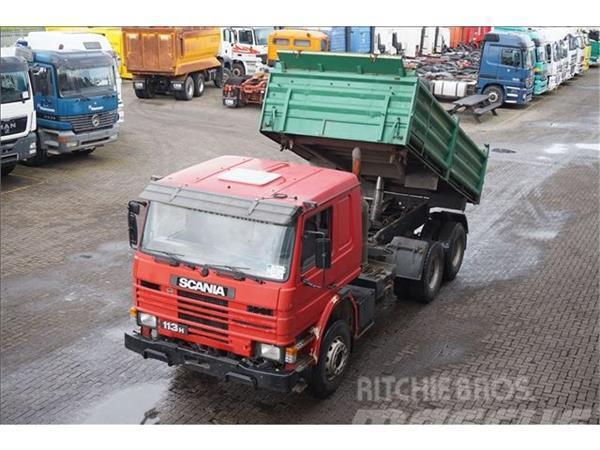 Scania 113H 360 6X4 3-zijdige kipper Steel suspension