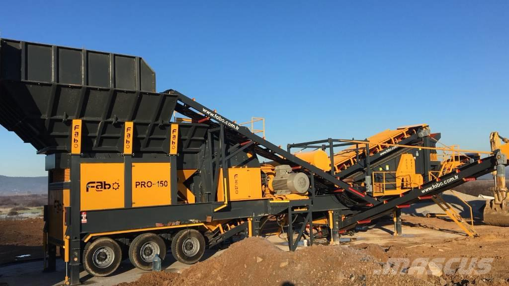 Fabo HIGH CAPACITY PRO-150 MOBILE CRUSHER PLANT 350T/H