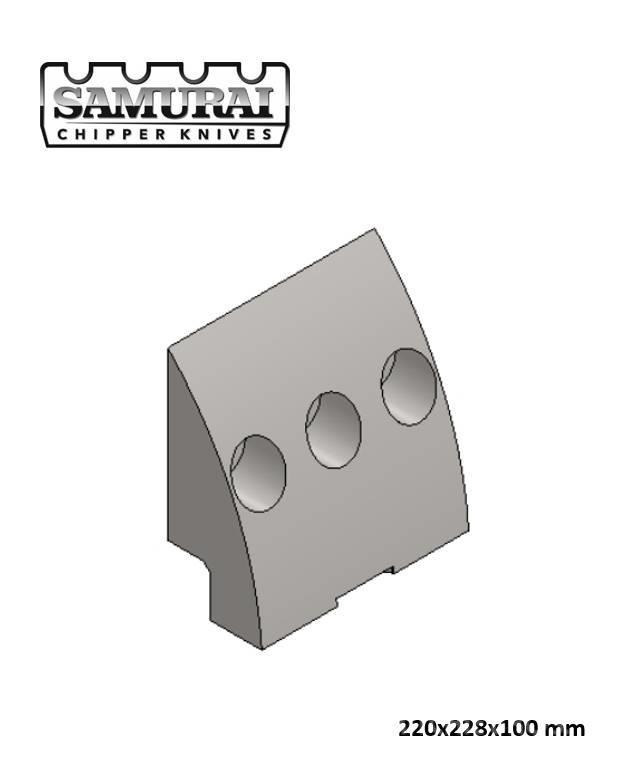 Doppstadt Clamping plate 220x228x100