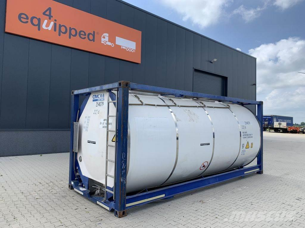 CIMC tankcontainers 3 baffels, 20FT, 25.080L, payload 3