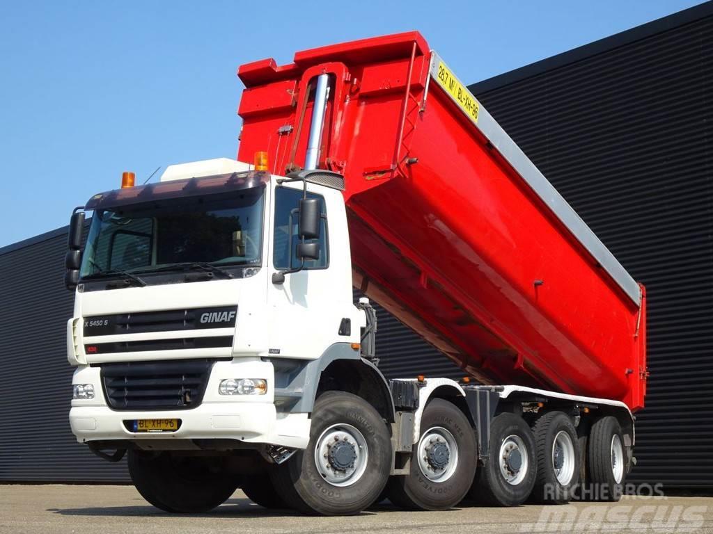 DAF GINAF X 5450 S / 10x8 / MANUAL GEARBOX / 28.7 m3 T