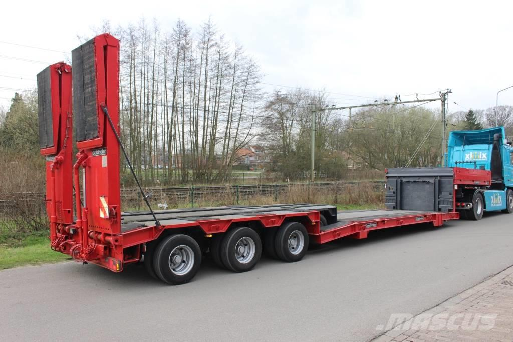 Goldhofer 4-axle extend low loader with hydr ramp  and floor