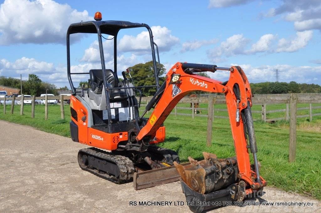 Kubota Kx015 4 15t Mini Excavator 3 Buckets Manufacture Date Yr