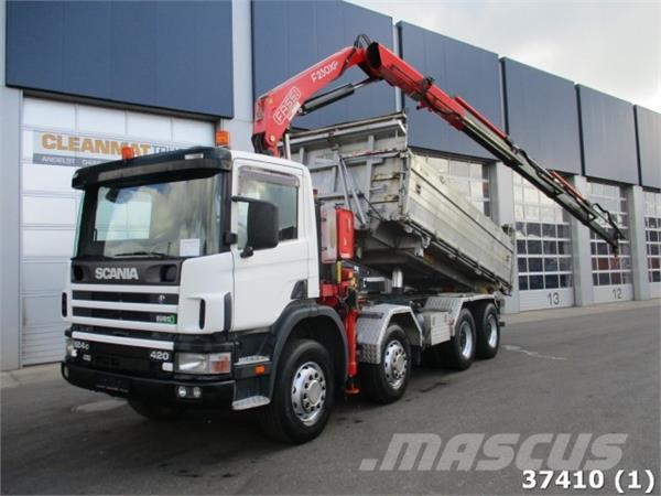 Scania P 124.420 8x4 Retarder Steel Fassi 21 ton/meter Kr