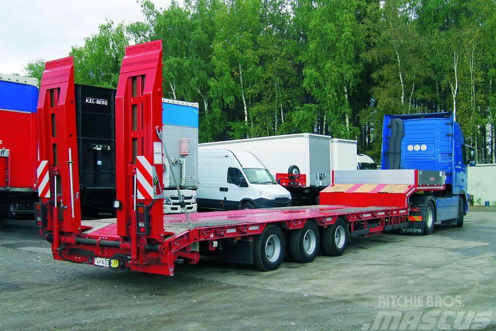 3 Axle Rv : Used grunwald axle lowbed trailer low loader semi
