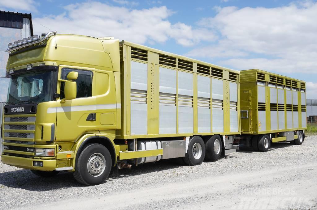 Scania R 164 , 6x2 , DOPPLESTOCK , 70m2 + trailer
