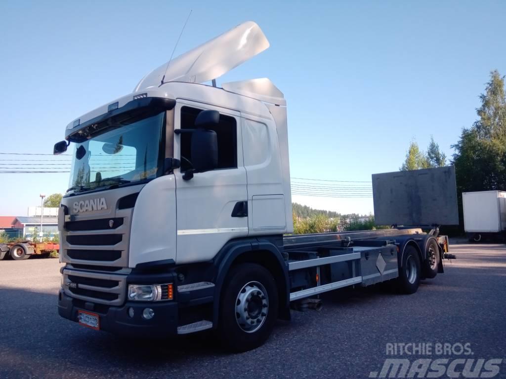 Scania R490 6x2 hydr.konttilaite+pl