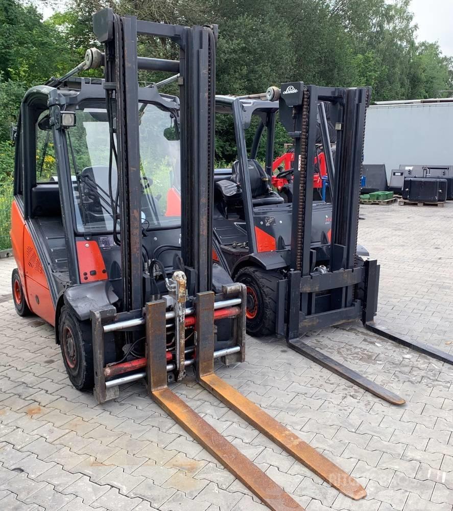 Linde H 25 T   +  H 30 T  GAS - Gabelstapler + SILBERSTO