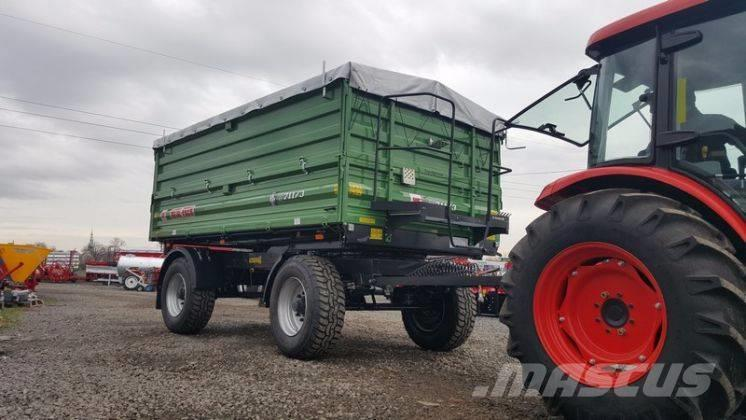 Metal-Fach T711/3 trailer 12 T + extensions 800mm + tarpaulin