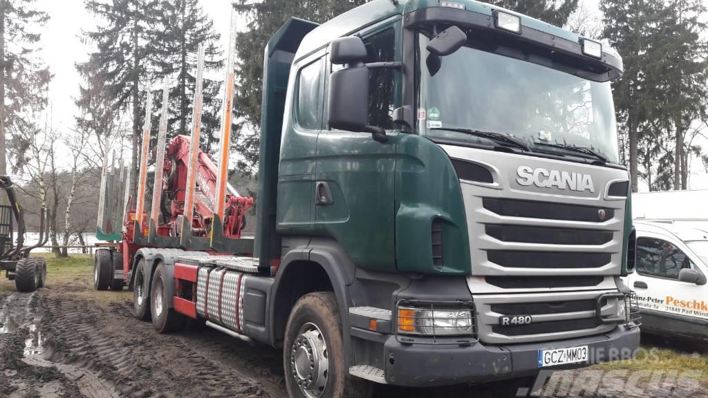 Scania R 480,  do drewna, dłużycy, Zamiana,