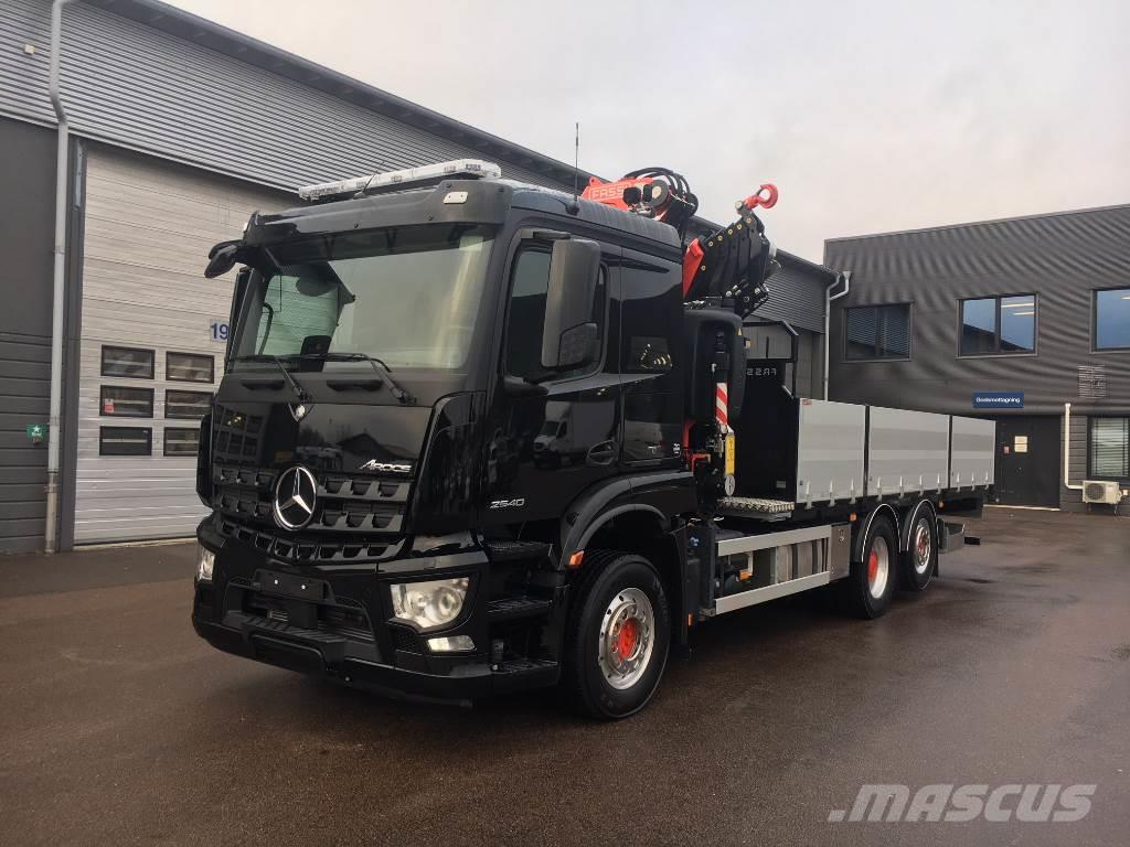 used mercedes benz arocs 2540l crane trucks year 2018 for. Black Bedroom Furniture Sets. Home Design Ideas