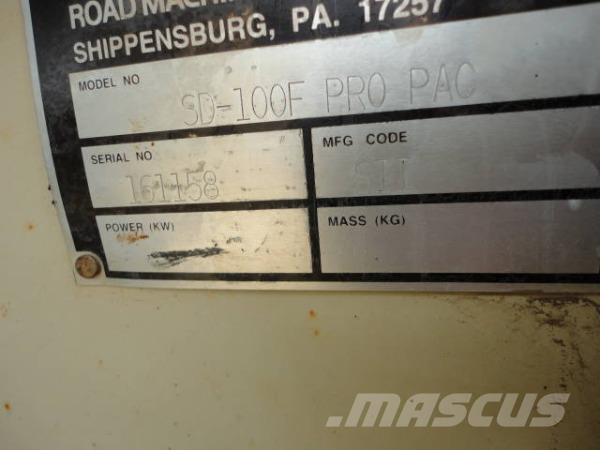 """Ingersoll Rand SD100F Pro Pac 84"""" Padfoot Vibratory Compactor"""