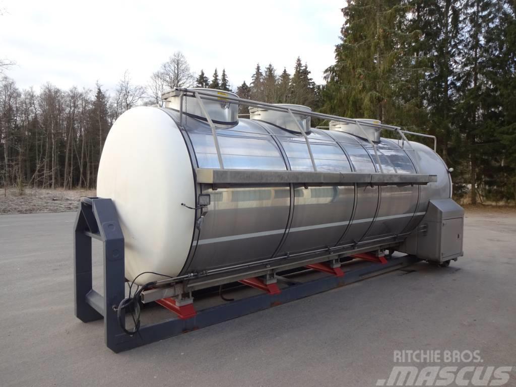 WM Tarm Rostfri mjölktank på Lastväxlareram