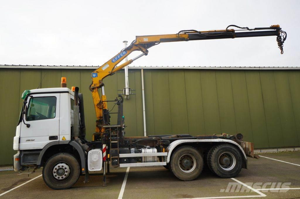 Mercedes-Benz ACTROS 2632 6X4 HOOKARM WITH EFFER 120 2S CRANE
