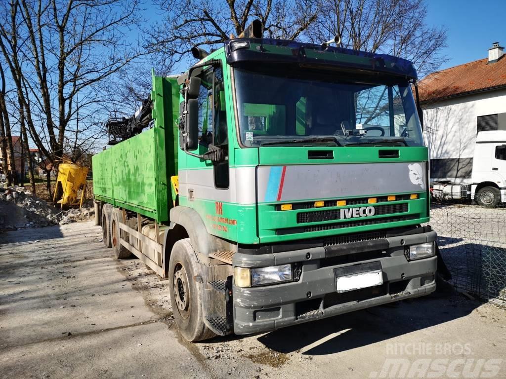 Iveco EUROTECH 260E42 6X4 stake body + crane HIAB 185