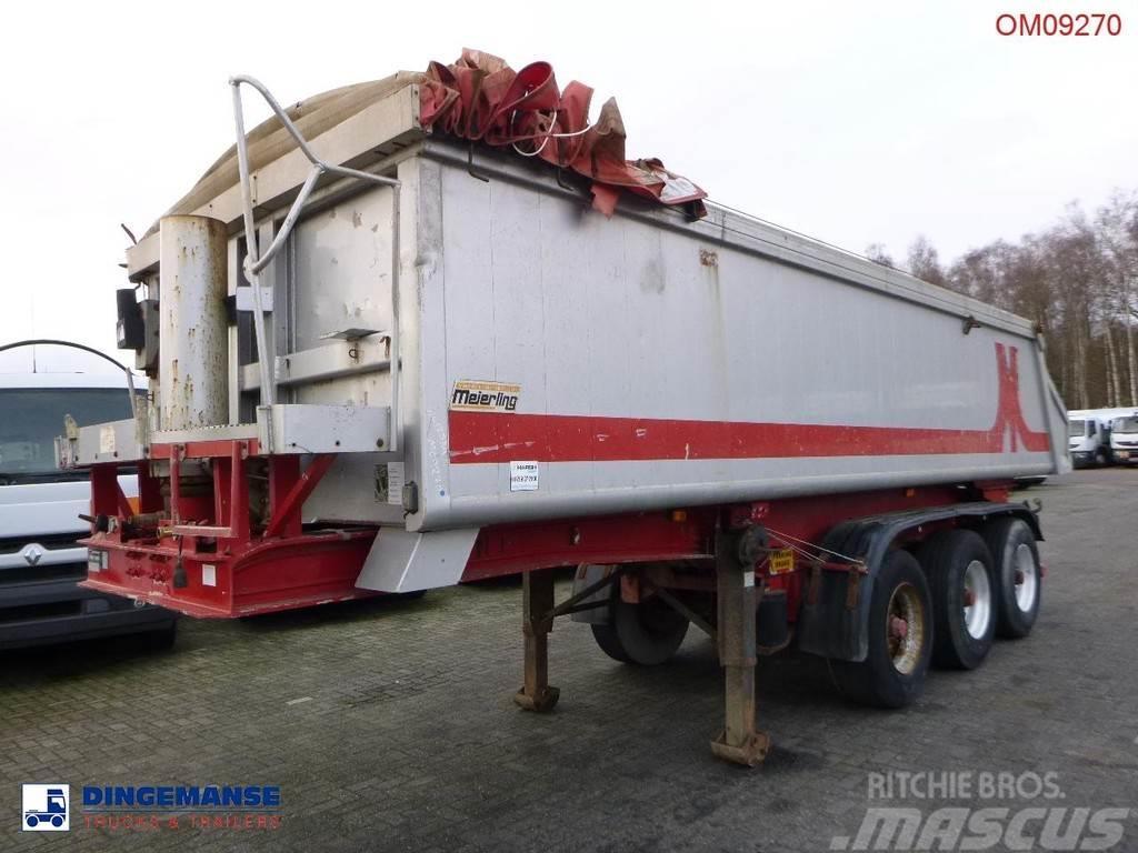 Meierling Tipper trailer alu 21 m3 + tarpaulin