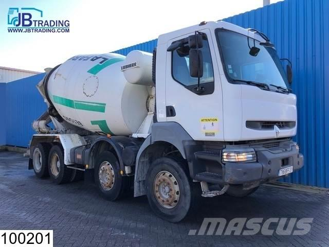 Renault Kerax 370 8x4, Liebherr, 9 M3, Steel suspension, M