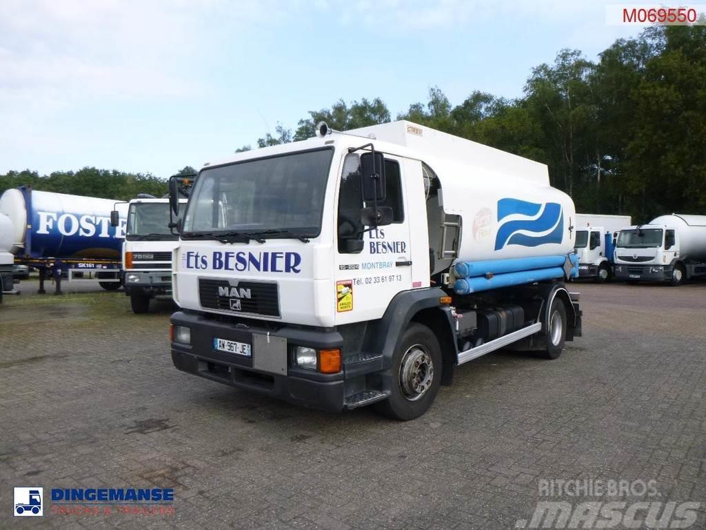 MAN 15.224 4x2 fuel tank 11.5 m3 / 3 comp// ADR Valid