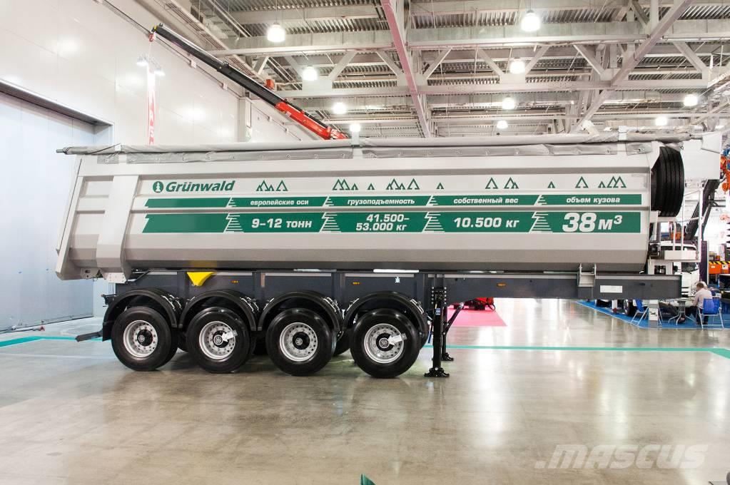 Grunwald Four-axle tipper semitrailer 38 cbm