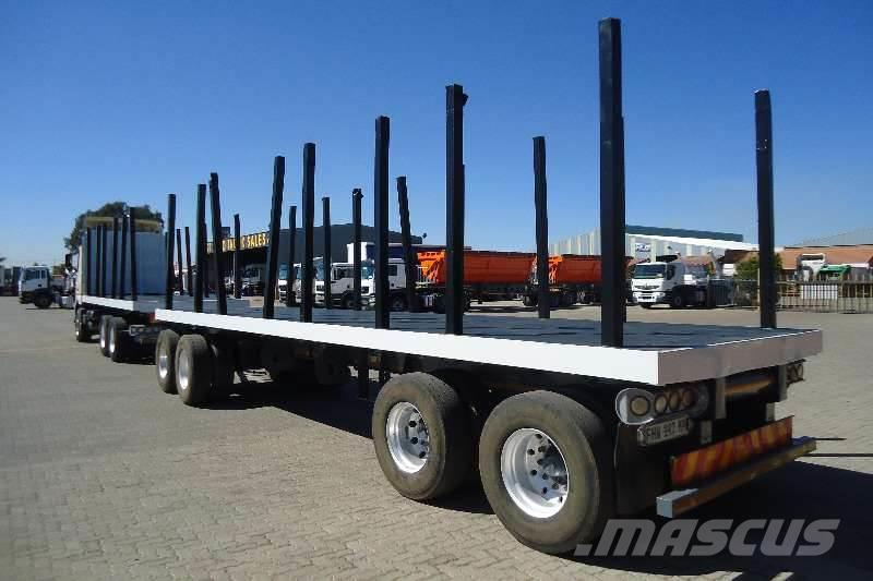Afrit 4 AXLE DRAWBAR FLATDECK TRAILER