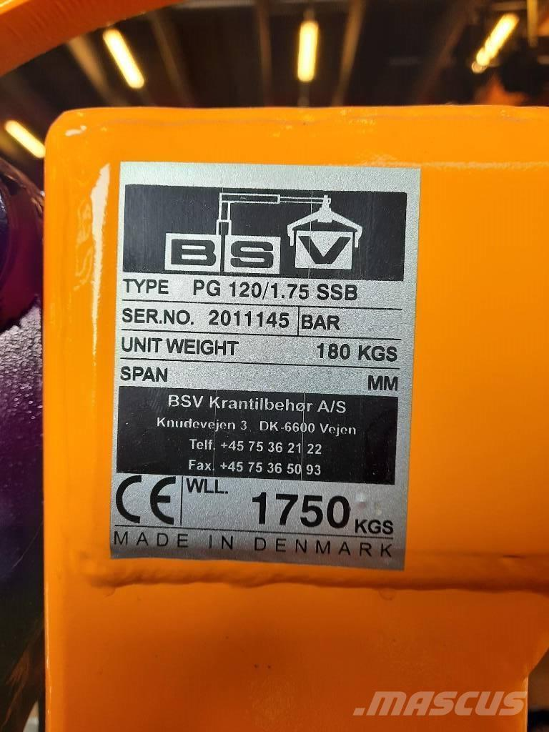 BSV lavahaarukka PG 120/1.75 SSB