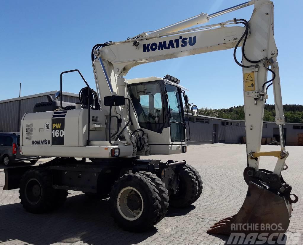 Komatsu PW160-7E0, maintained German machine