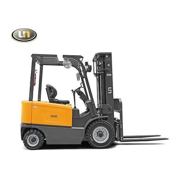 UN Forklift FB30 3Ton 4-Wheel Electric Forklift Li-ion Battery