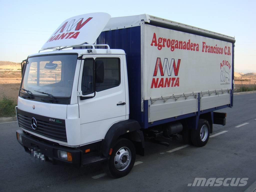 Mercedes-Benz 814 SEMITAULINER, 1997, Curtain Side Trucks ...