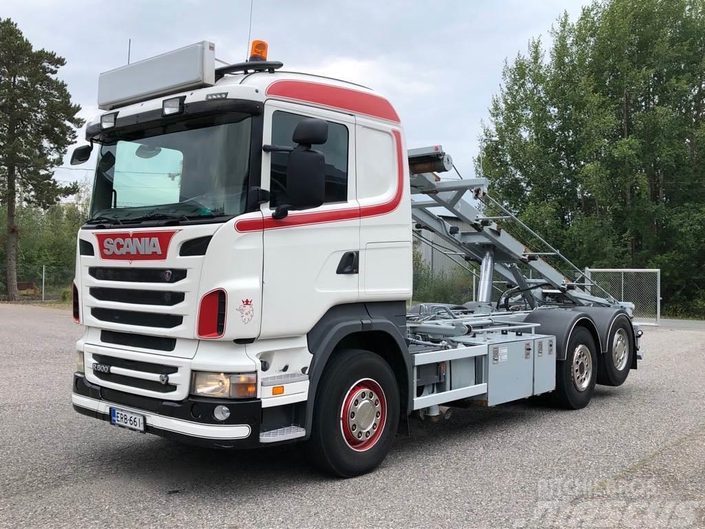 Scania R500 6x2 Multilift vaijerilaite