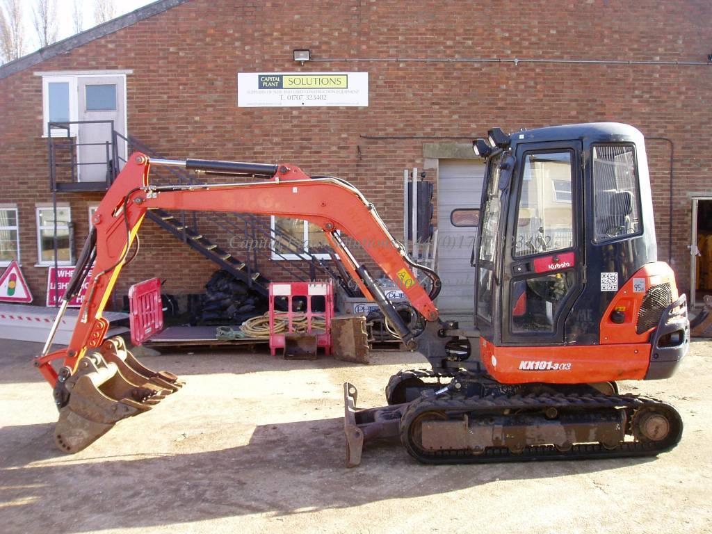 ... Kubota KX 101-3 3, 2013, Mini excavators < 7t (Mini diggers ...