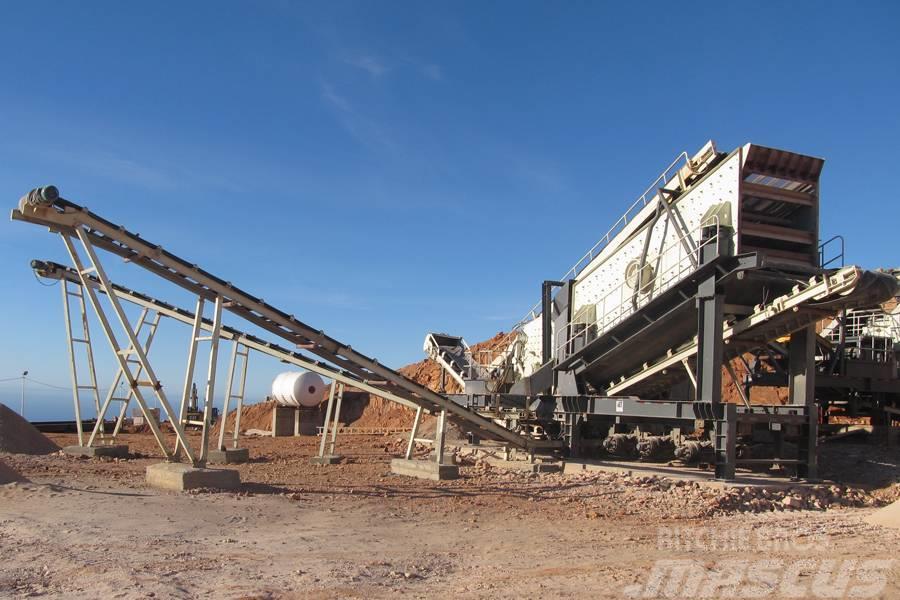 Liming 400tph gypsum mobile crushing plant