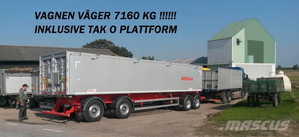 Benalu Tippsläp 4-axlad Optiliner 38 ton Bulk & Pallgods