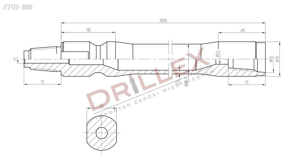 Ditch Witch JT2720 Drill pipes, Żerdzie wiertnicze