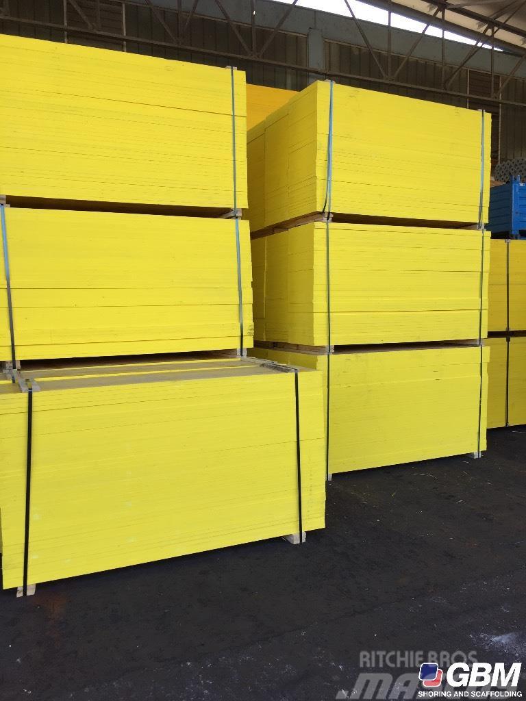 Gbm pannelli panels panneaux schalungsplatten til salgs 2018 i italia brukte stillas - Pannelli gialli tavole armatura ...
