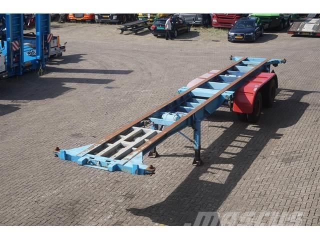 Fruehauf Container chassis 3-assig 40ft/full steel