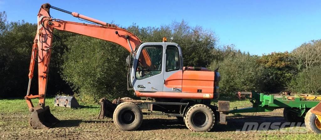 Fiat-Kobelco E145W 360° Wheeled Excavator
