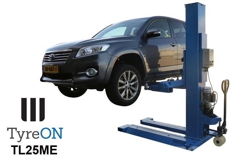 TyreOn TL25ME | 2500 KG | mobile single post lift