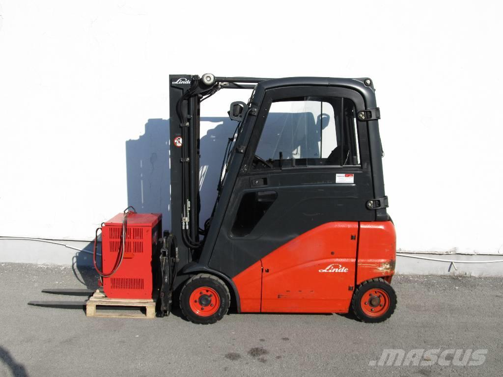 used linde e16ph 386 electric forklift trucks year 2010 price 22 346 for sale mascus usa. Black Bedroom Furniture Sets. Home Design Ideas