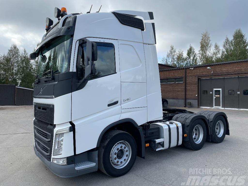 Volvo FH540 6x4 nouseva teli/katkeava veto