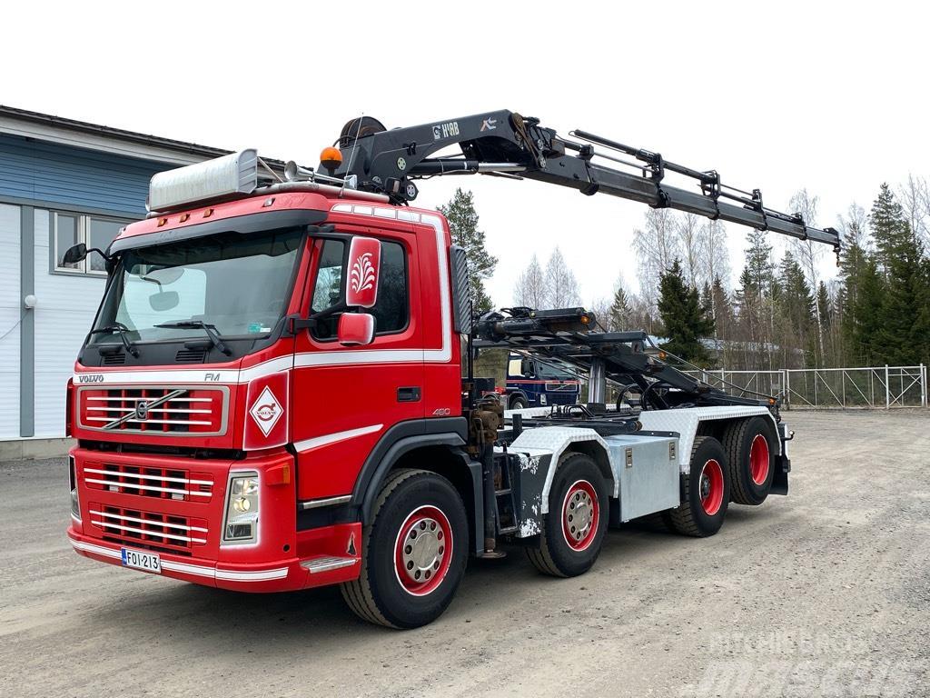 Volvo FM480 8x2 Hiab211 nosturi, vaijerilaite