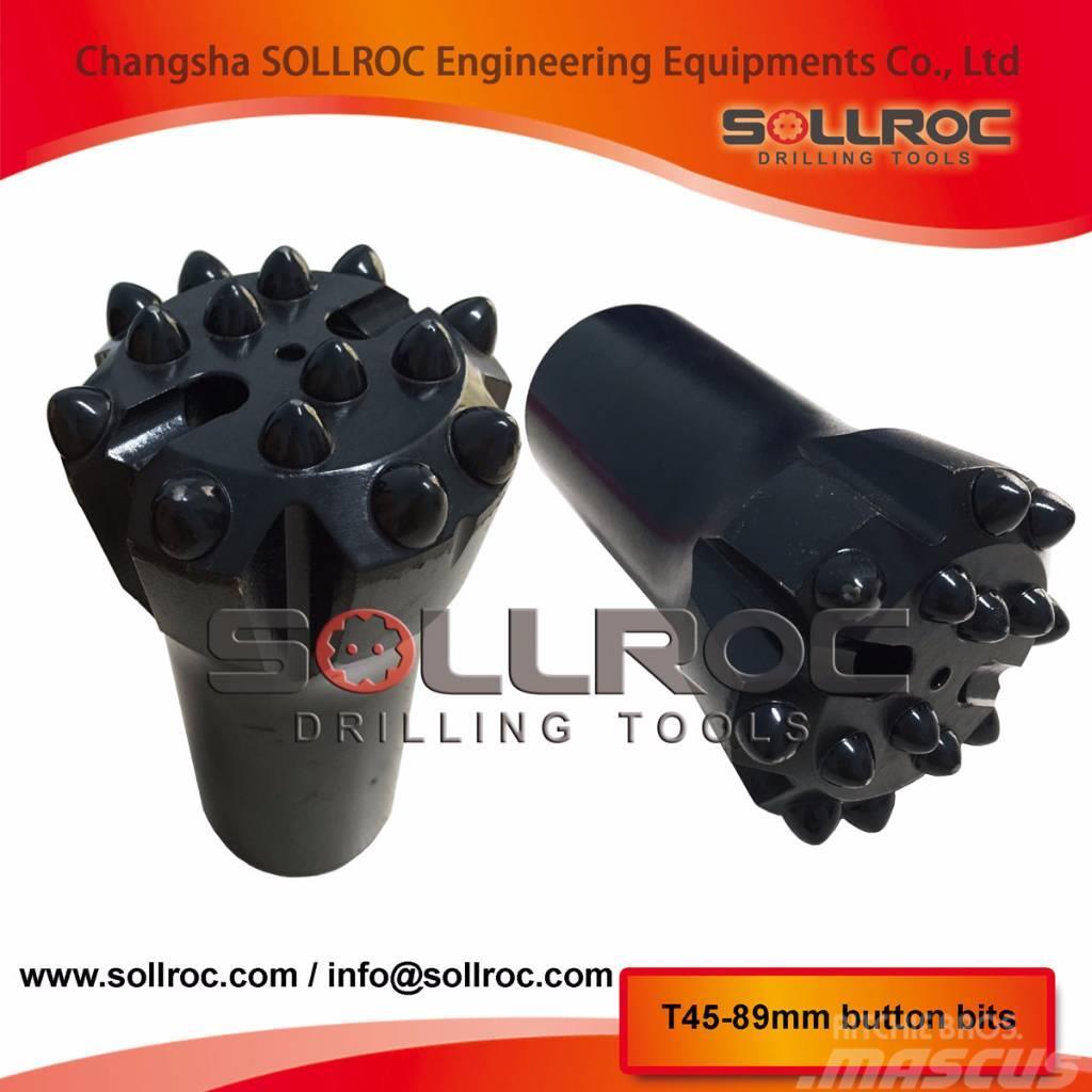 Sollroc T38, T45, T51, GT60 button bit, drill bit
