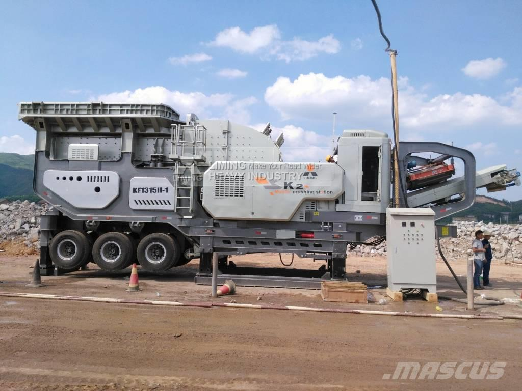 Liming 180TPH primary and seconday mobile granite crusher