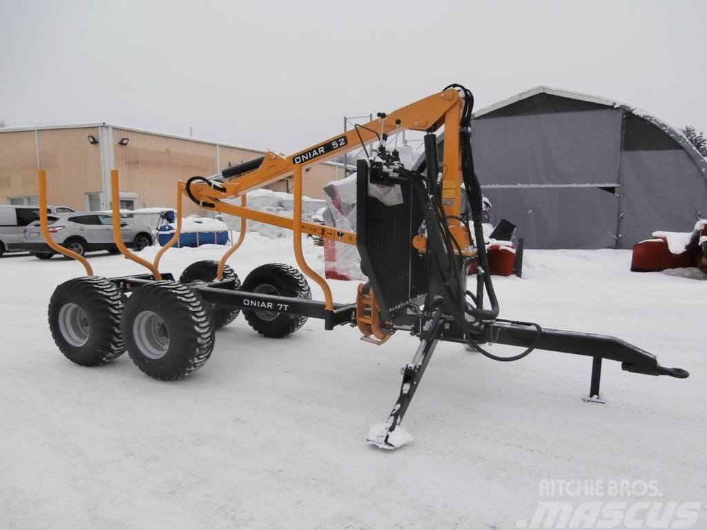 Oniar 52 + Fox 7 T kärry Metsäkärry paketti