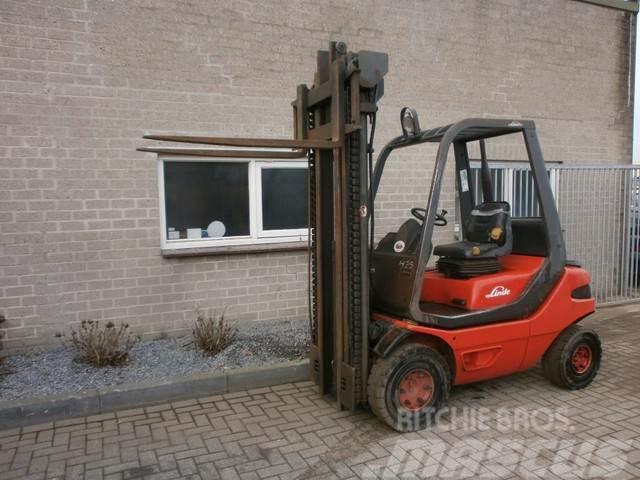 Linde H25D H25 D Diesel heftruck Triplo 5,5 m Freelift T